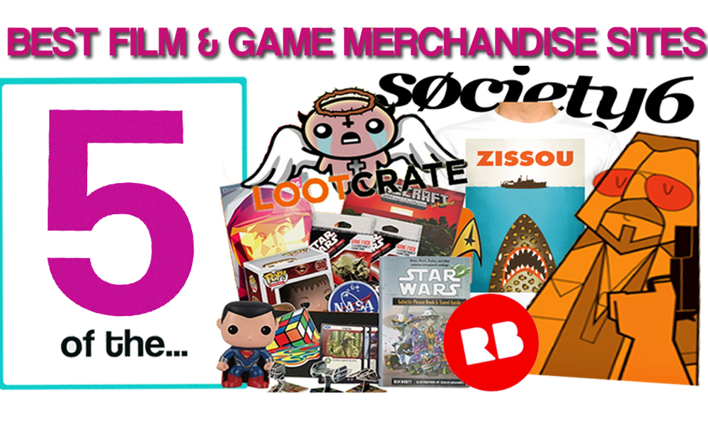 5 OF THE: BEST FILM & GAME MERCHANDISE SITES • Separate Screens