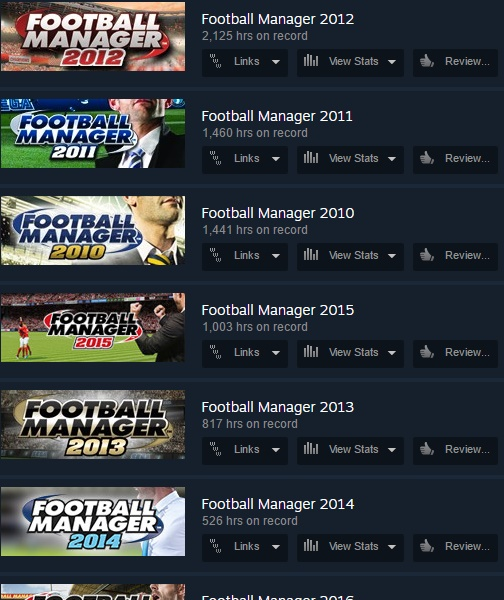 Football Manager play time